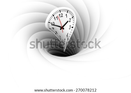 a black hole warps and absorbs the time - stock photo
