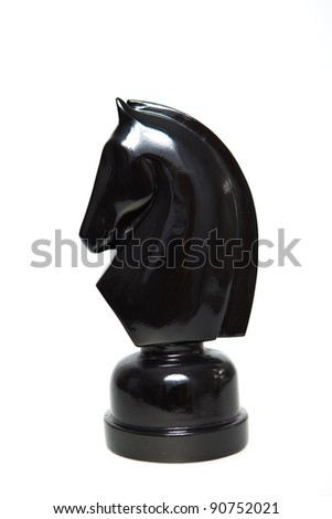 A black Knight on clear background - stock photo