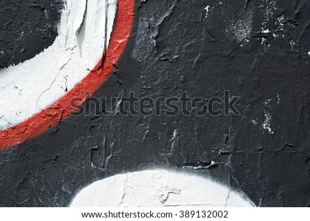 a black white and red painted wall background - stock photo