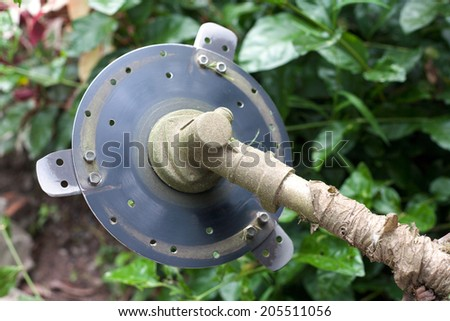 A Blade of Lawn Mower - stock photo