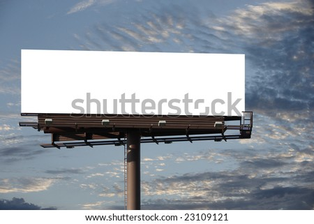 A blank Billboard for you to add your text or image to - stock photo