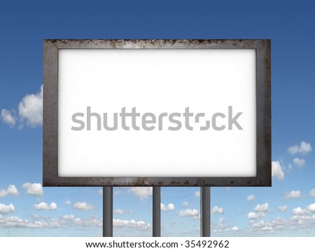 A blank Billboards for you to add your text or image to