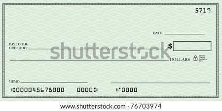 A blank check design with open spacing for you to place your own words - stock photo
