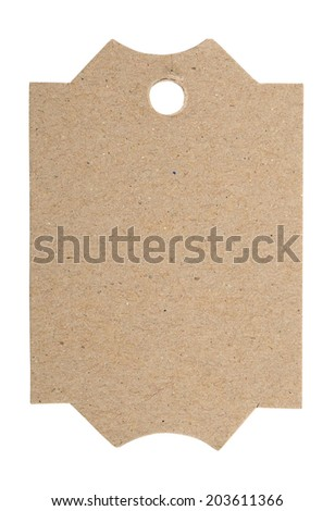 A blank gift tag isolated on white background  - stock photo