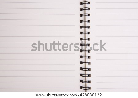 A blank open wide notebook  - stock photo