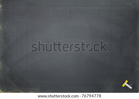 A blank school chalkboard. With copy space for your text or design - stock photo