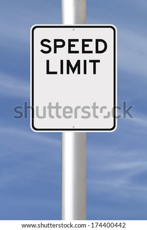 A blank speed limit sign   - stock photo