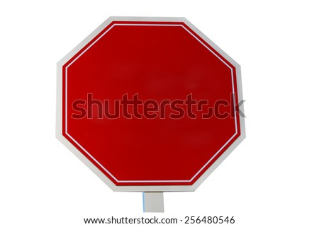 A blank stop sign or traffic, street sign  - stock photo