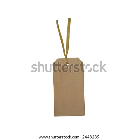 A blank wooden tag. - stock photo