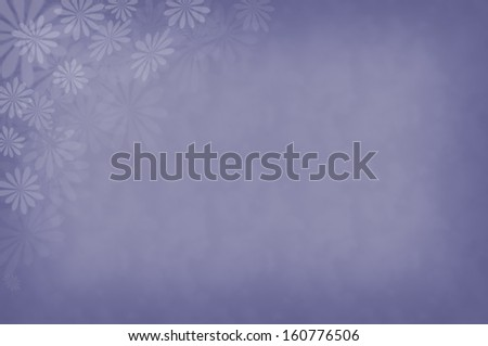 A blue background with blue flowers  - stock photo