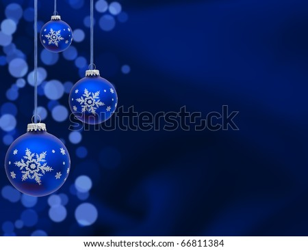 A blue christmas ball on a blue background, christmas time