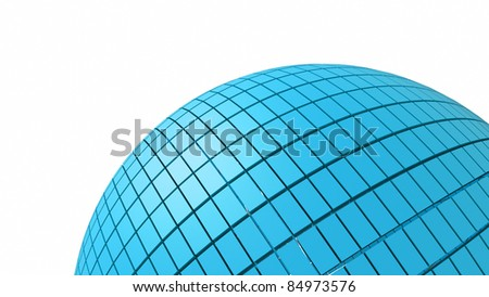 a blue cubes in a sphere shape as a background