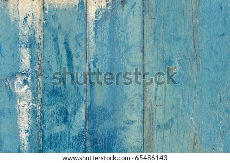 A blue painted wooden door - stock photo