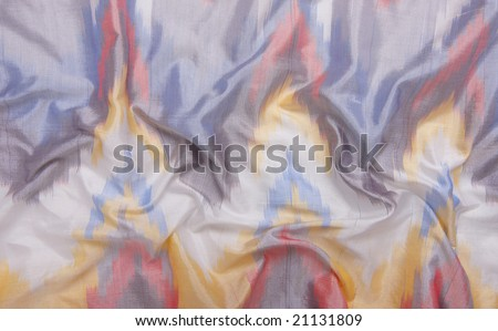 A blue silky cloth background