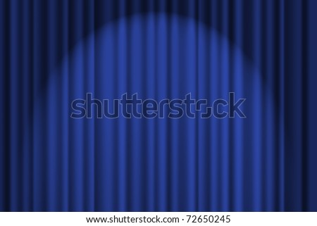 A blue textured background, stage curtain