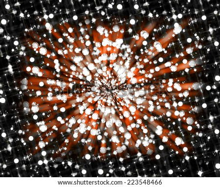 A bokeh style starry explosion for use as a design element or as a background or backdrop. - stock photo