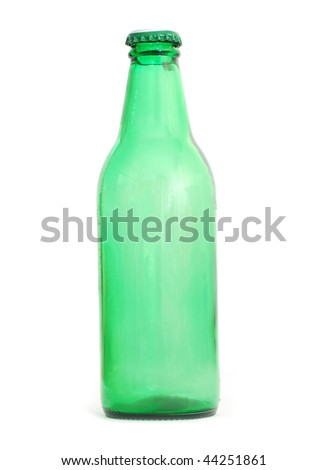 a bottle beer background - stock photo