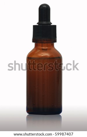 A bottle for medicine or cosmetic - stock photo