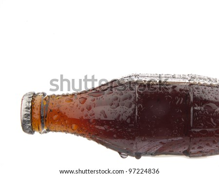 a bottle of cola soda isolated on a white background - stock photo