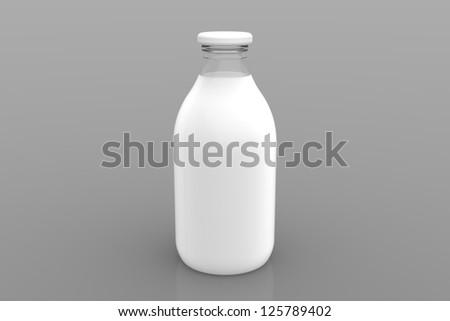 A bottle of milk - stock photo