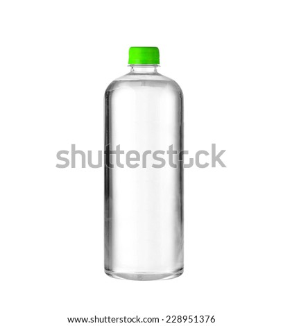 A bottle of water - stock photo