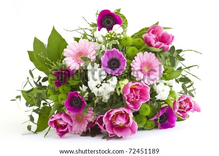 a bouquet of colorful flowers - stock photo