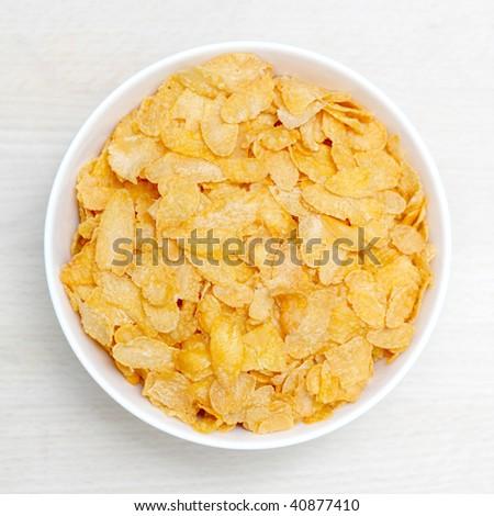 A bowl of corn flakes - stock photo
