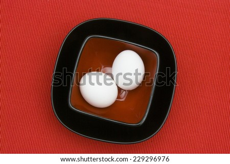 A bowl of eggs  - stock photo