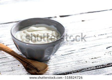 A bowl of greek yogurt
