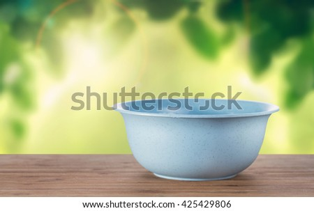 A bowl on a table