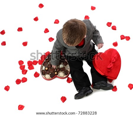 A Boy with Valentine Candy