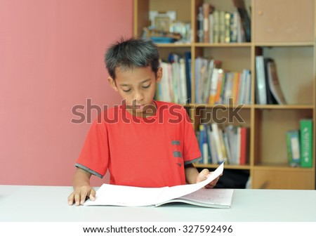 A boys studying  - stock photo