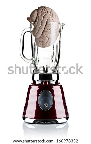 A brain model placed in a blender  - stock photo
