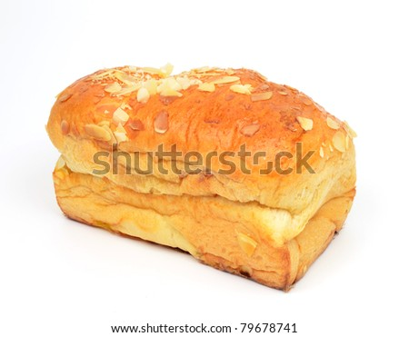a bread on white background