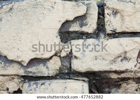 A brick old wall background