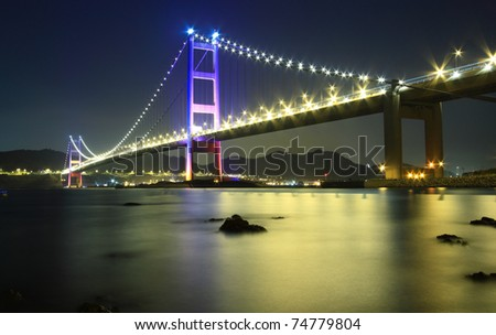 A bridge night scape