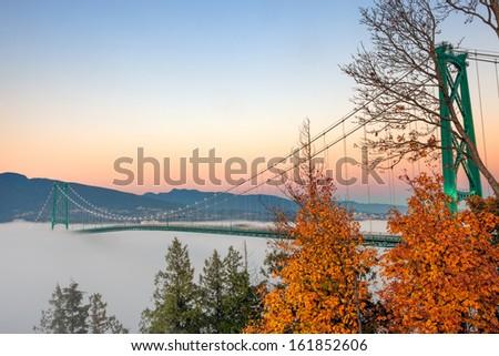 A Bridge Over Fog - stock photo