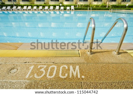 A bright blue pool - stock photo