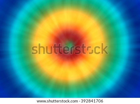 a bright psychedelic tie dye background with a retro look - stock photo