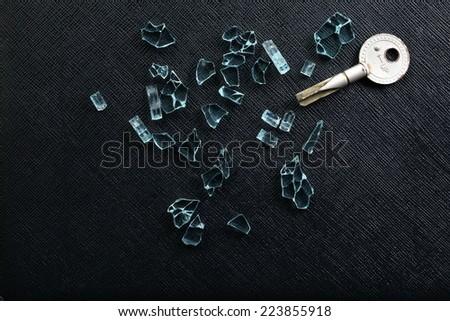 Broken Door Key Put Among Broken Stock Photo Royalty Free