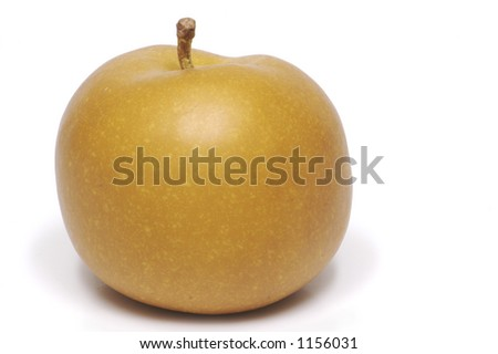 A brown apple isolated on a white background. - stock photo