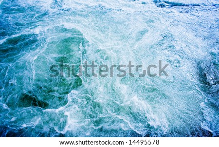 A bubbling water background abstract - stock photo
