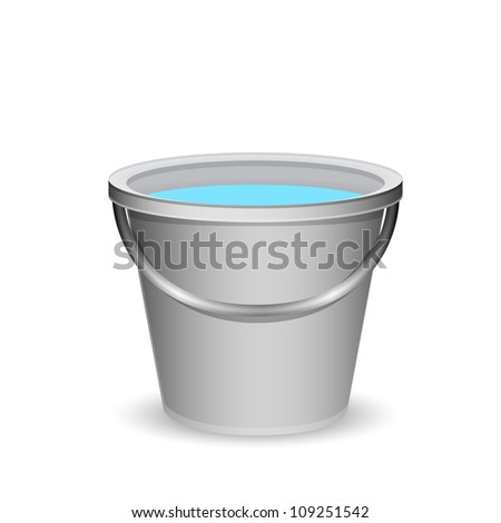 a bucket of water - stock photo