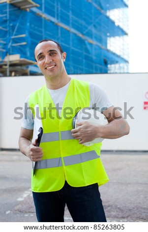 A builder or manager on a construction site