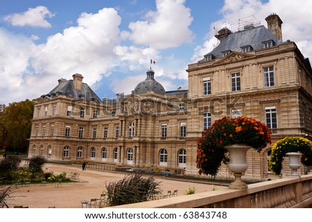 a Building in Luxembourg garden in Paris - stock photo