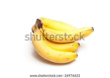 A bunch of bananas isolated on a white background