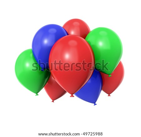 a bunch of colorful ballons - stock photo