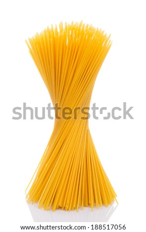 A bunch of dried spaghetti
