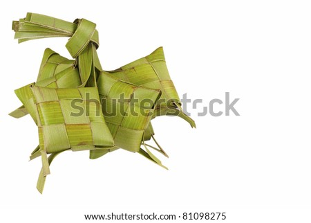 A Bunch of Ketupats, a Natural Casing used for Cooking Rice - stock photo