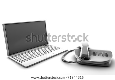 A bundle of telco services isolated on white
